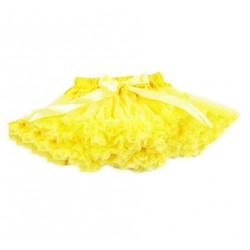 Geltonas, pūstas sijonas, 32 cm ilgio