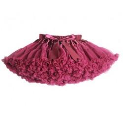 Vyno raudonumo labai pūstas sijonas