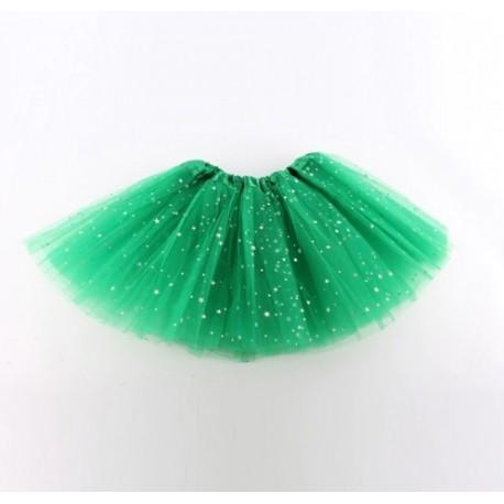 Žalias pūstas žvaigždėtas TUTU sijonas