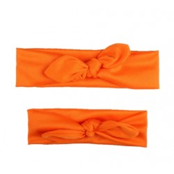 Oranžinis galvos juostų rinkinys: mamai ir dukrytei