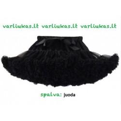 Juodas pūstas sijonas, 38 cm ilgio