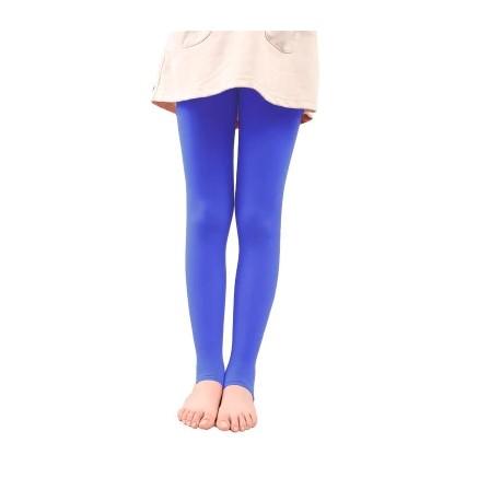 Mėlynos vienspalvės pėdkelnės be pėdučių