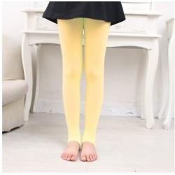 Geltonos vienspalvės pėdkelnės be pėdučių