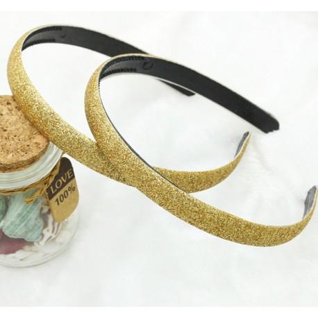 Auksinės spalvos lankelis su žėručiu