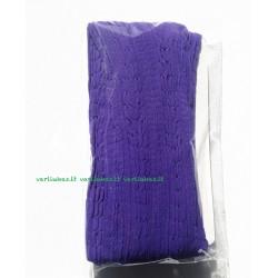 Violetinės pėdkelnės, raštuotos