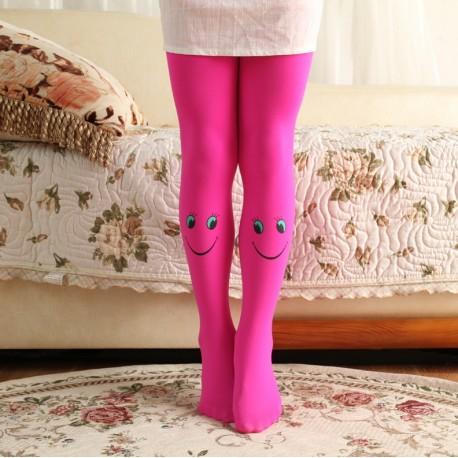 Ryškiai rožinės pėdkelnės su šypsenėlėms