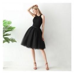 Juodas sijonas, 60 cm. ilgio (5 sluoksniai)
