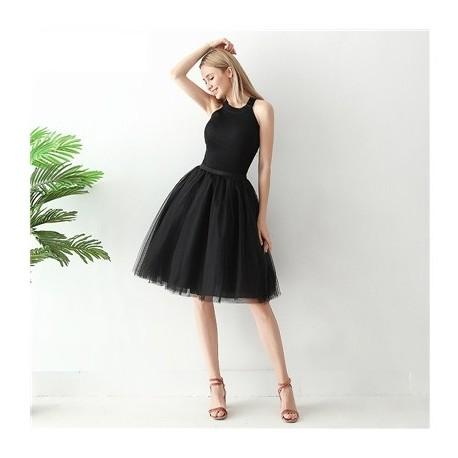 Juodas sijonas, 60 cm. ilgio