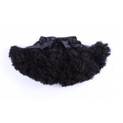 Labai pūstas juodas sijonas, 31 cm ilgio