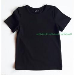 Juodi trumparankoviai marškinėliai