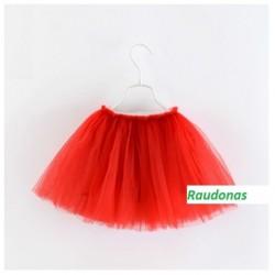 Raudonas sijonėlis, 35 cm. ilgio