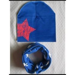 Mėlynas derinukas: kepurytė su mova