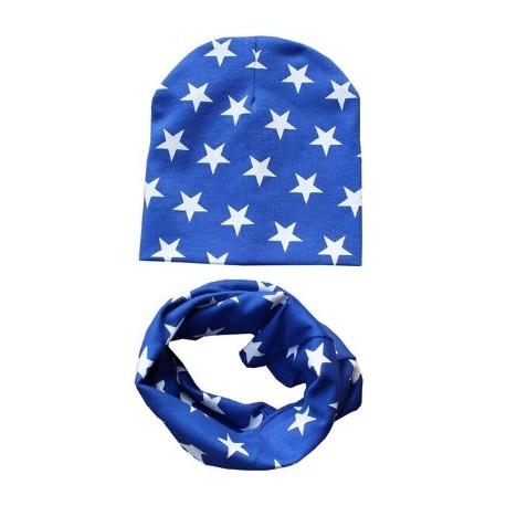 Mėlynas komplektukas: kepurytė su mova