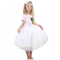 Baltas sijonas mergaitėms, 50 cm. ilgio