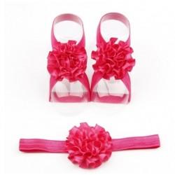 Ryškiai rožinių juostelių rinkinukas kūdikiams