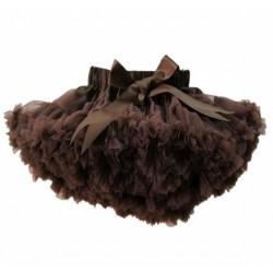 Labai pūstas rudas sijonas