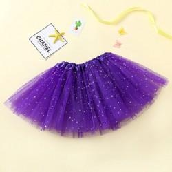Violetinis pūstas žvaigždėtas TUTU sijonas