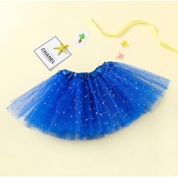 Mėlynas pūstas žvaigždėtas TUTU sijonas