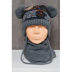 Pikas komplektukas: kepurė + šalikėlis