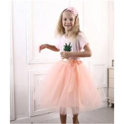 Persiko spalvos sijonas mergaitėms, 50 cm. ilgio
