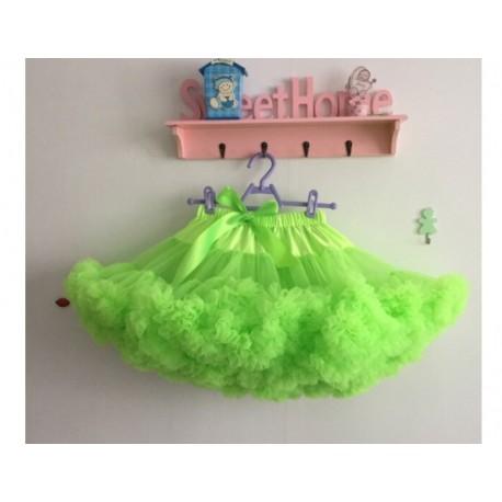 Salotinės spalvos pūstas sijonas, 36 cm ilgio
