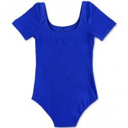 Mėlynas triko, trumpomis rankovėmis, be užsegimo