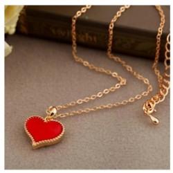 Raudona širdelė, grandinėlė