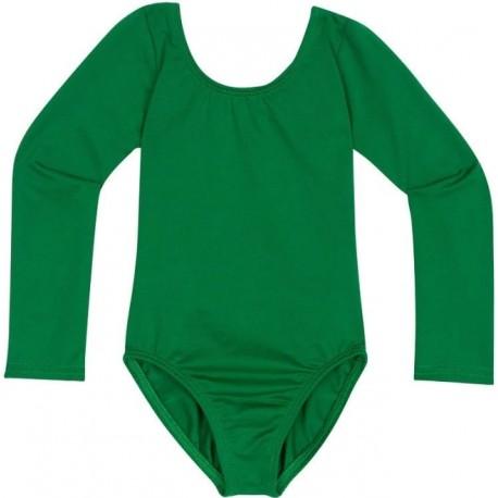 Žali triko, ilgomis rankovėmis, be užsegimo