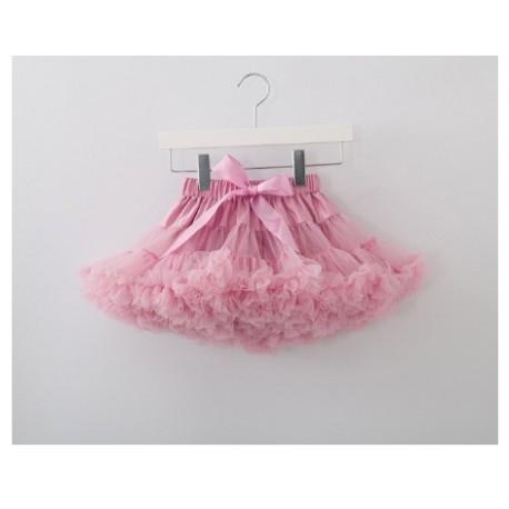Dusty pink pūstas sijonas, 24 cm ilgio