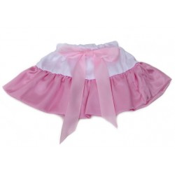 Baltas-rožinis sijonėlis, 20 cm. ilgio