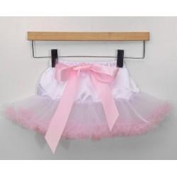 Baltas-rožinis sijonėlis, 21 cm. ilgio