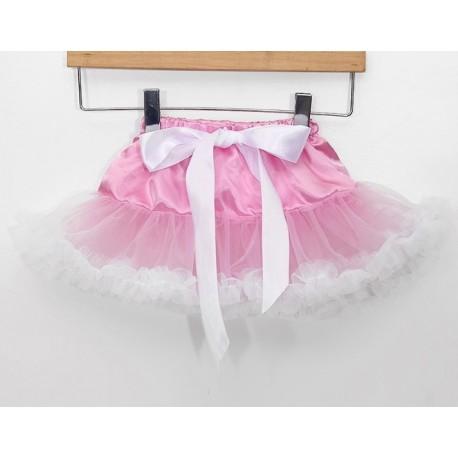 Rožinis-baltas sijonėlis, 21 cm. ilgio