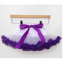Baltas-violetinis sijonėlis, 21 cm. ilgio