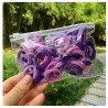 Violetinės plaukų gumytės, 50 vnt