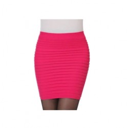 Ryškiai rožinis mini sijonas