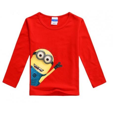 Ilgarankoviai marškinėliai, raudoni
