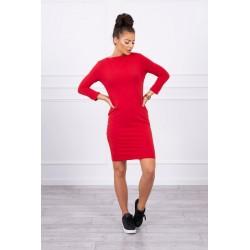 Raudona klasikinė suknelė