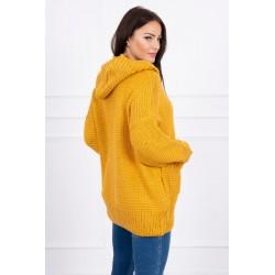 Geltonas megztinis su kapišonu