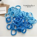 Mėlynos plaukų gumytės, 25 vnt