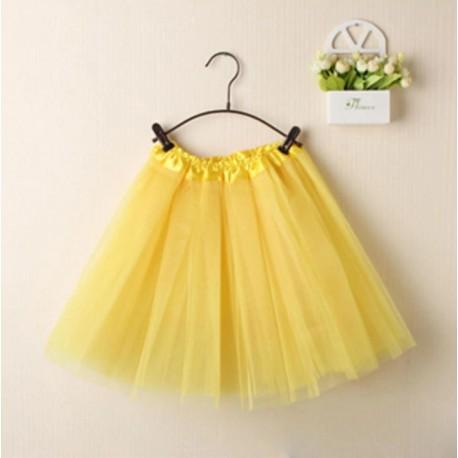 Geltonas TUTU sijonas merginoms