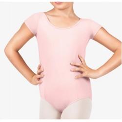 Rožinis triko, trumpomis rankovėmis, su užsegimu