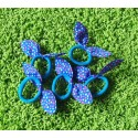 Mėlynos plaukų gumytės, 5 vnt