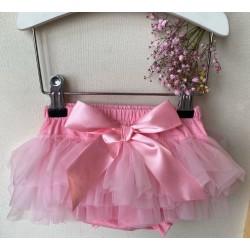 Rožinis sijonėlis mažylėms