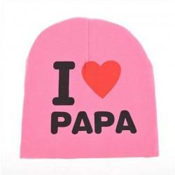 Kepurė, rausva I love PAPA