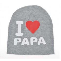 Kepurė, pilka I love PAPA