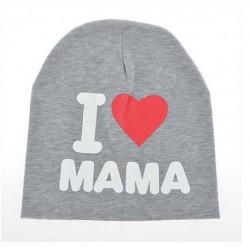 Kepurė, pilka I love MAMA
