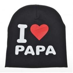 Kepurė, juoda I love PAPA