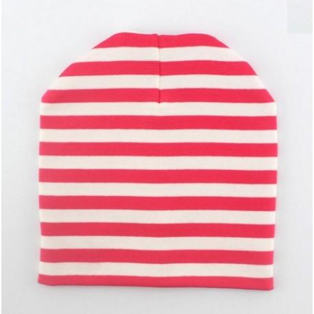 Dryžuota kepurė,  rožinė