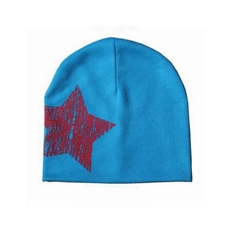 Kepurytė mažiesiems, mėlyna su žvaigžde