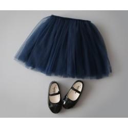 Tamsiai mėlynas sijonėlis